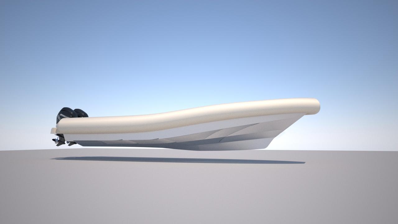 Быстрая лодка больших размеров Steno RIB 1100